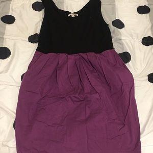 Dresses & Skirts - Black and plum pocket day summer low cut dress